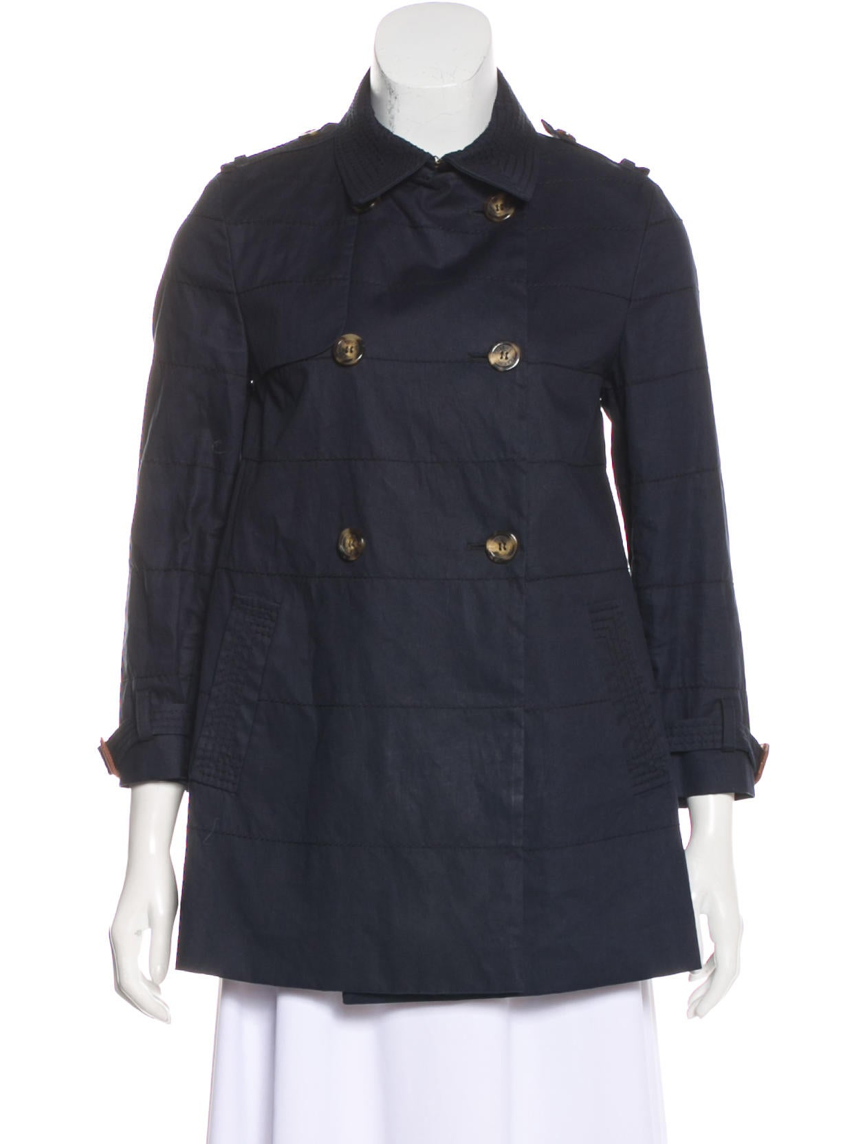 981d287d5a07 Moncler Double-Breasted Short Coat - Clothing - MOC29770