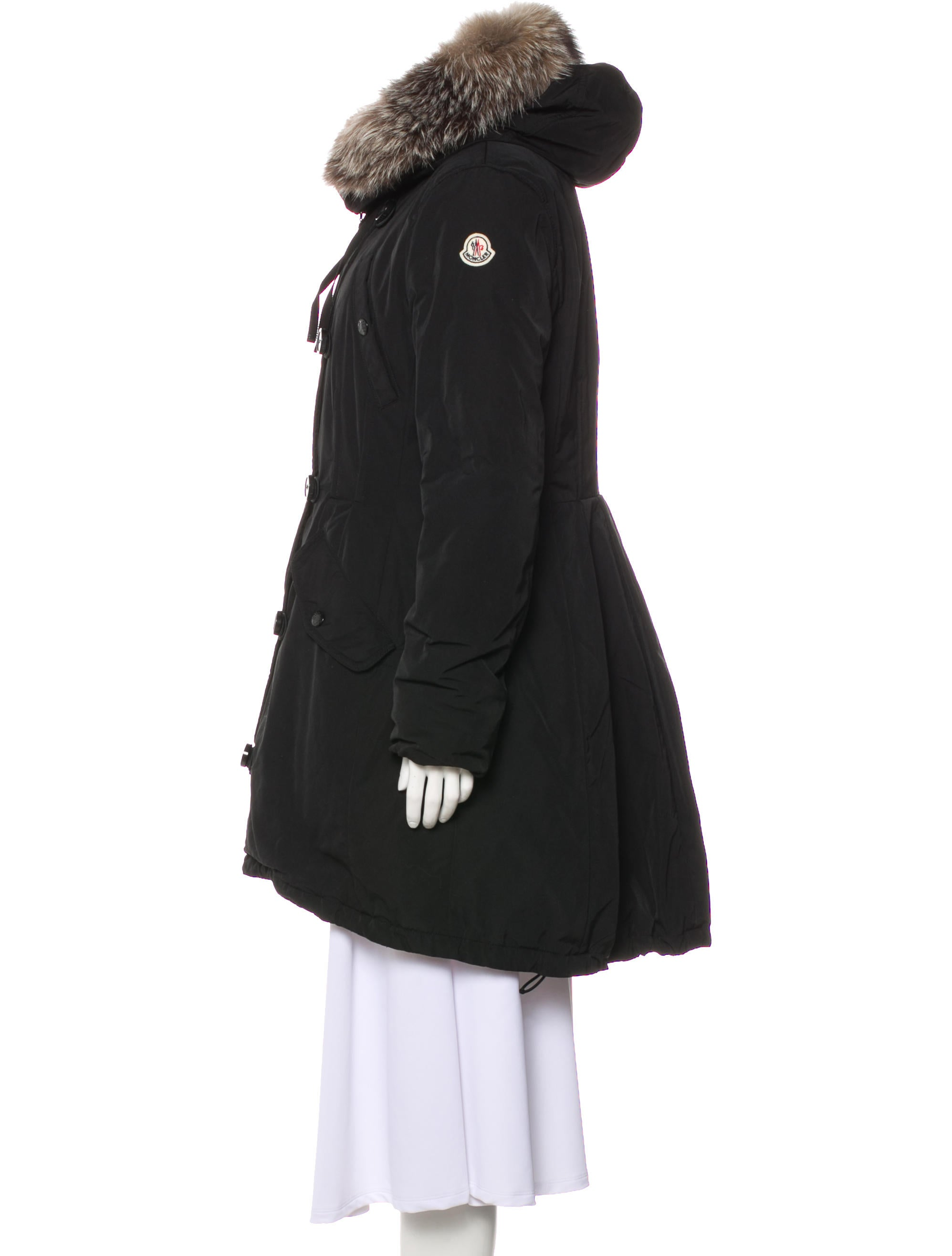 Moncler Hooded Short Coat Clothing Moc29811 The Realreal With Hood