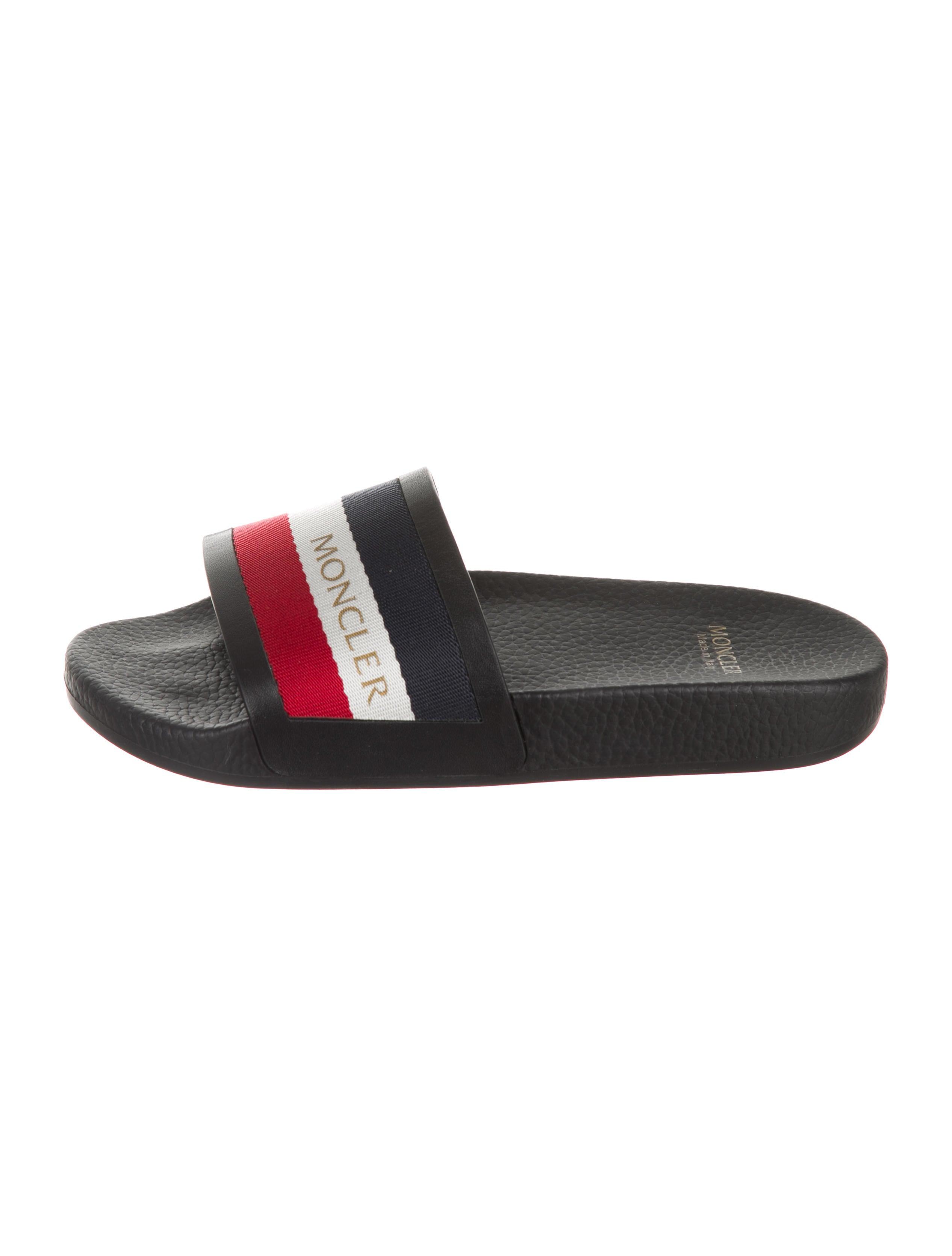 32be7609fb93 Moncler Basile Striped Slides - Shoes - MOC34243