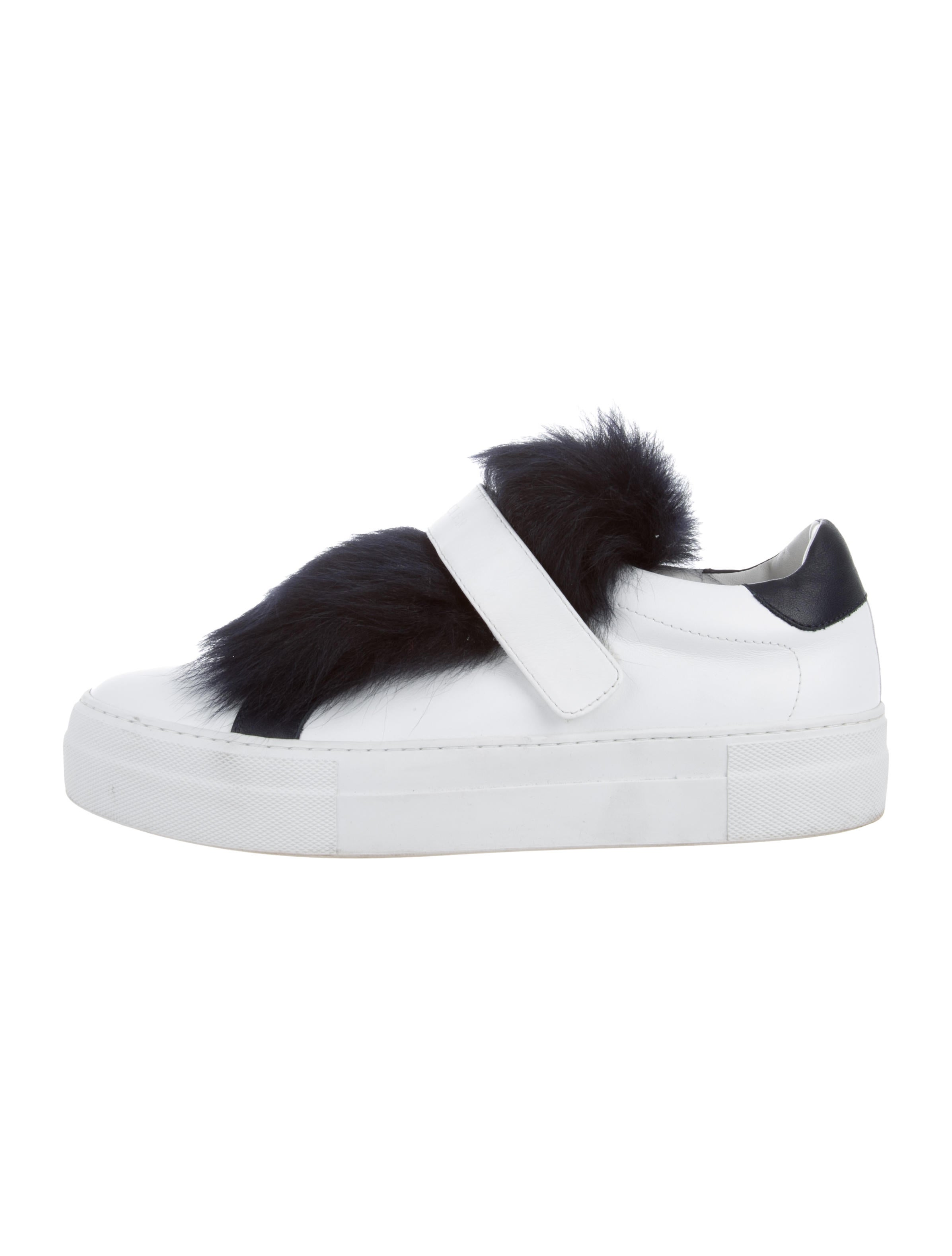 Moncler Victoire Fur Accented Sneakers