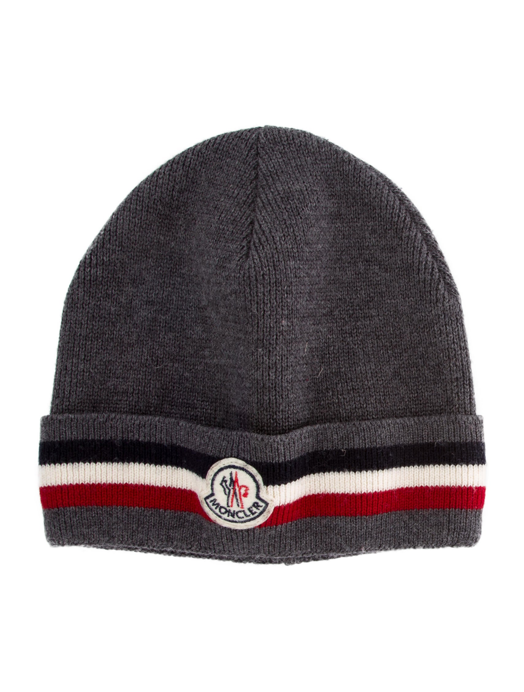 4d959f2b288 Moncler Patterned Virgin Wool Beanie - Accessories - MOC36401