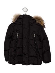b6f1b292ec19 Moncler. Boys  Reginald Fur-Trimmed Jacket