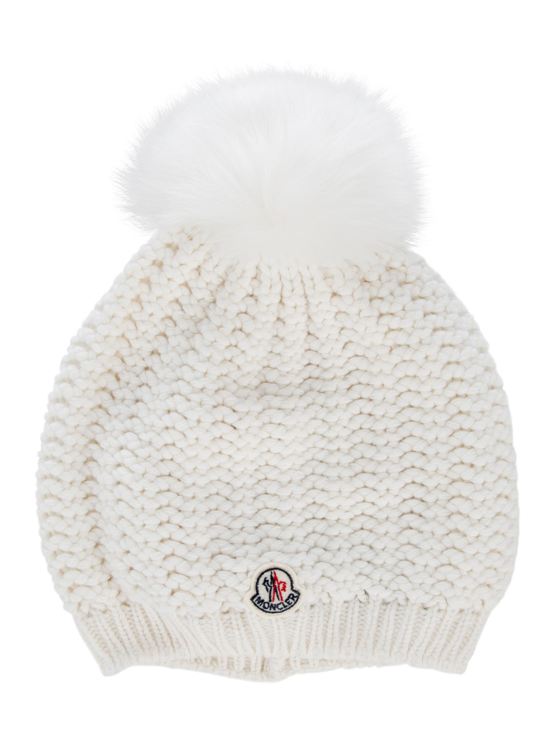 3f55c318518 Moncler Fox Fur-Trimmed Chunky Knit Beanie w  Tags - Accessories ...