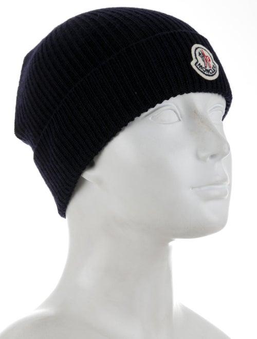 Moncler Virgin Wool Logo Beanie w/ Tags - Accessories - MOC40192