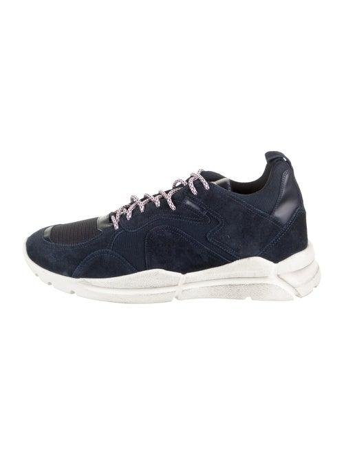 Moncler Suede Low-Top Sneakers Navy