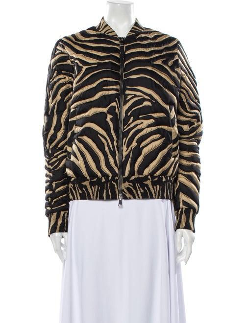 Moncler Zebra Silk Bomber Jacket