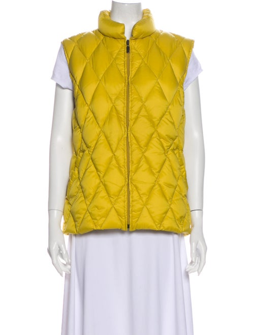 Moncler Quilted Down Vest Yellow