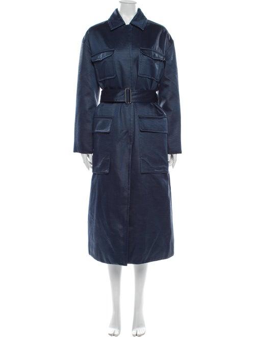 Moncler Genius Marigold Striped Trench Coat w/ Ta… - image 1