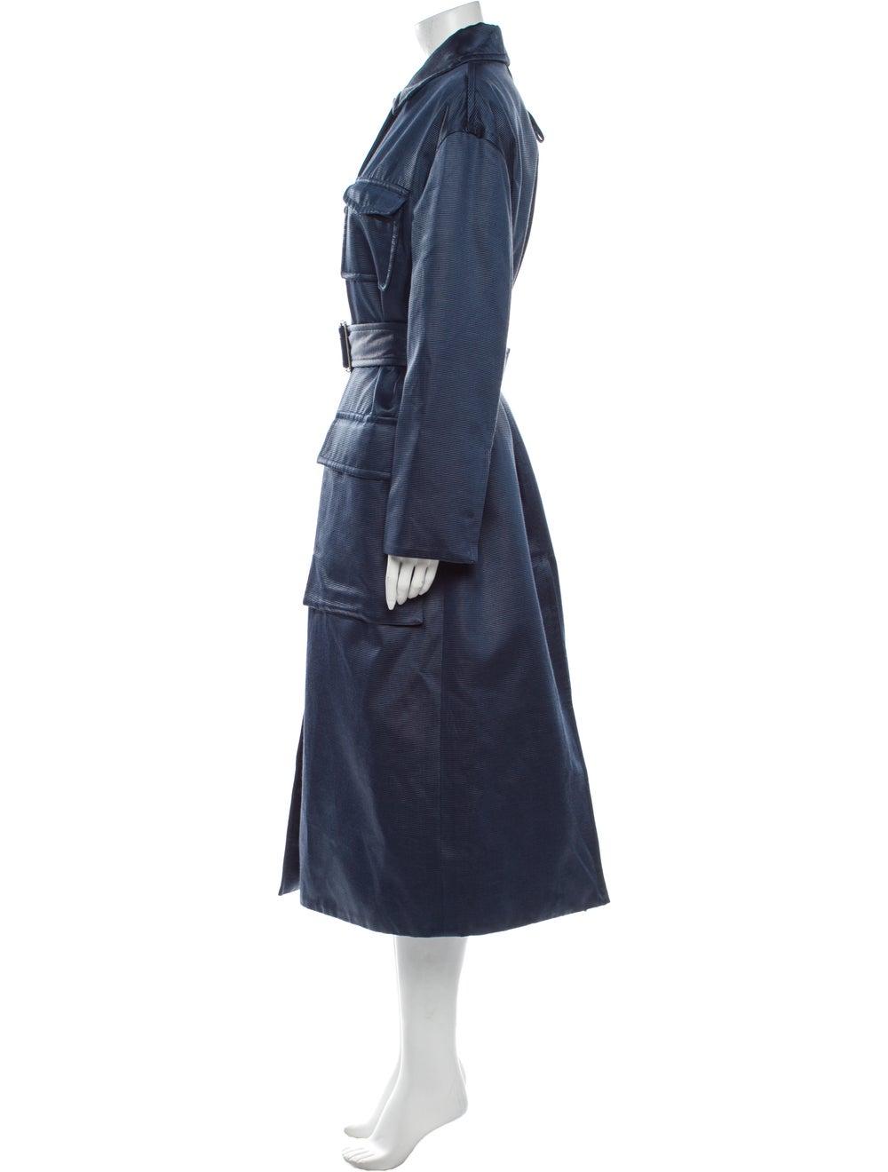 Moncler Genius Marigold Striped Trench Coat w/ Ta… - image 2