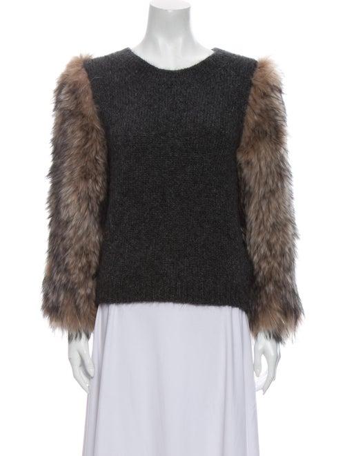 Moncler Mohair Scoop Neck Sweater Grey