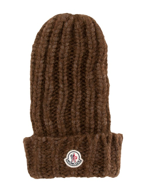 Moncler Mohair Knit Beanie w/ Tags Brown