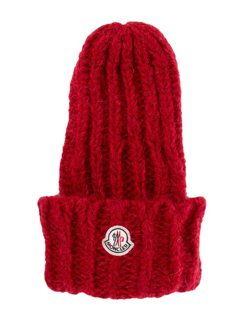 Moncler Mohair Knit Beanie Red