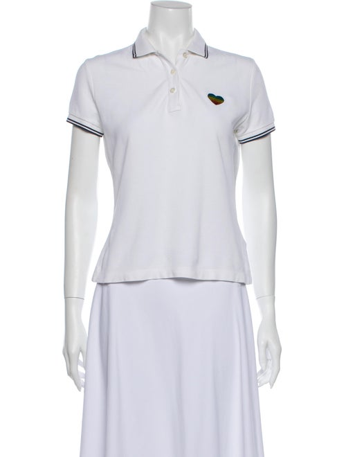 Moncler Short Sleeve Polo White