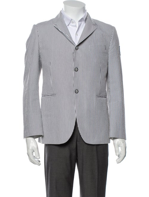 Moncler Striped Sport Coat White
