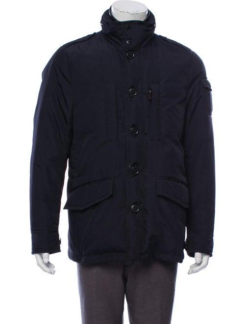 Moncler Woven Puffer Jacket navy