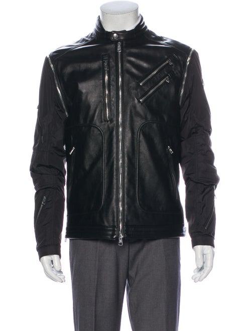 Moncler Raoul Leather Jacket Black