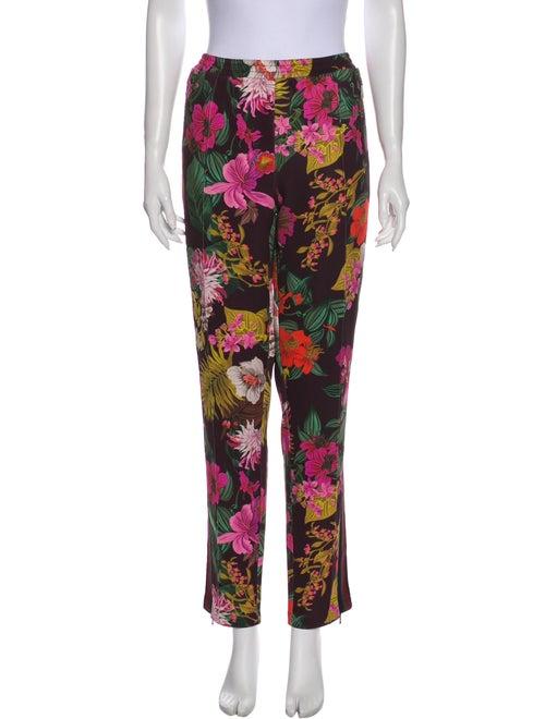 Moncler Floral Print Pants Purple