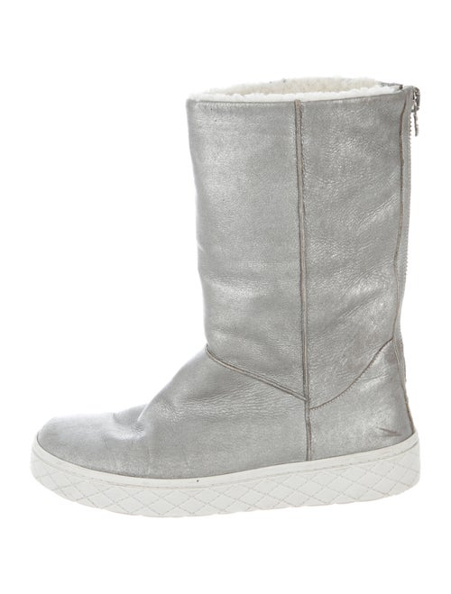 Moncler Nubuck Boots Metallic