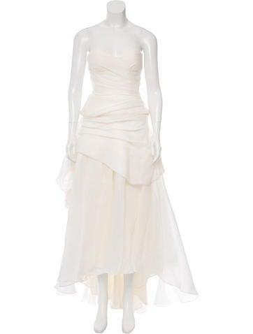 Strapless Silk Wedding Gown