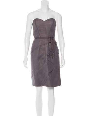 Monique Lhuillier Strapless Sheath Dress