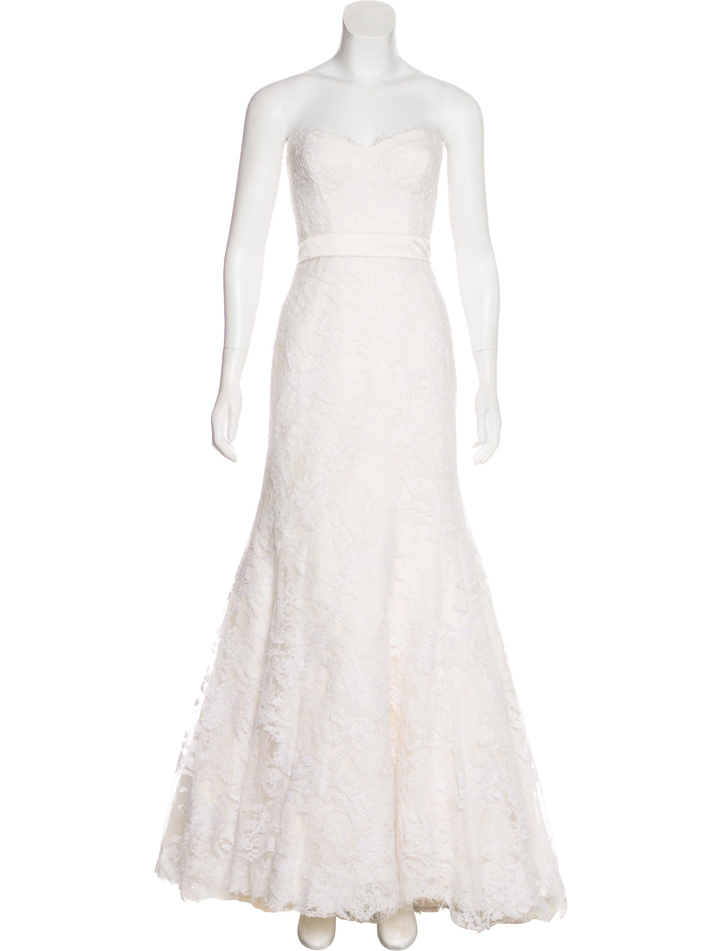 Monique Lhuillier Lace Wedding Gown Clothing Moi22120 The