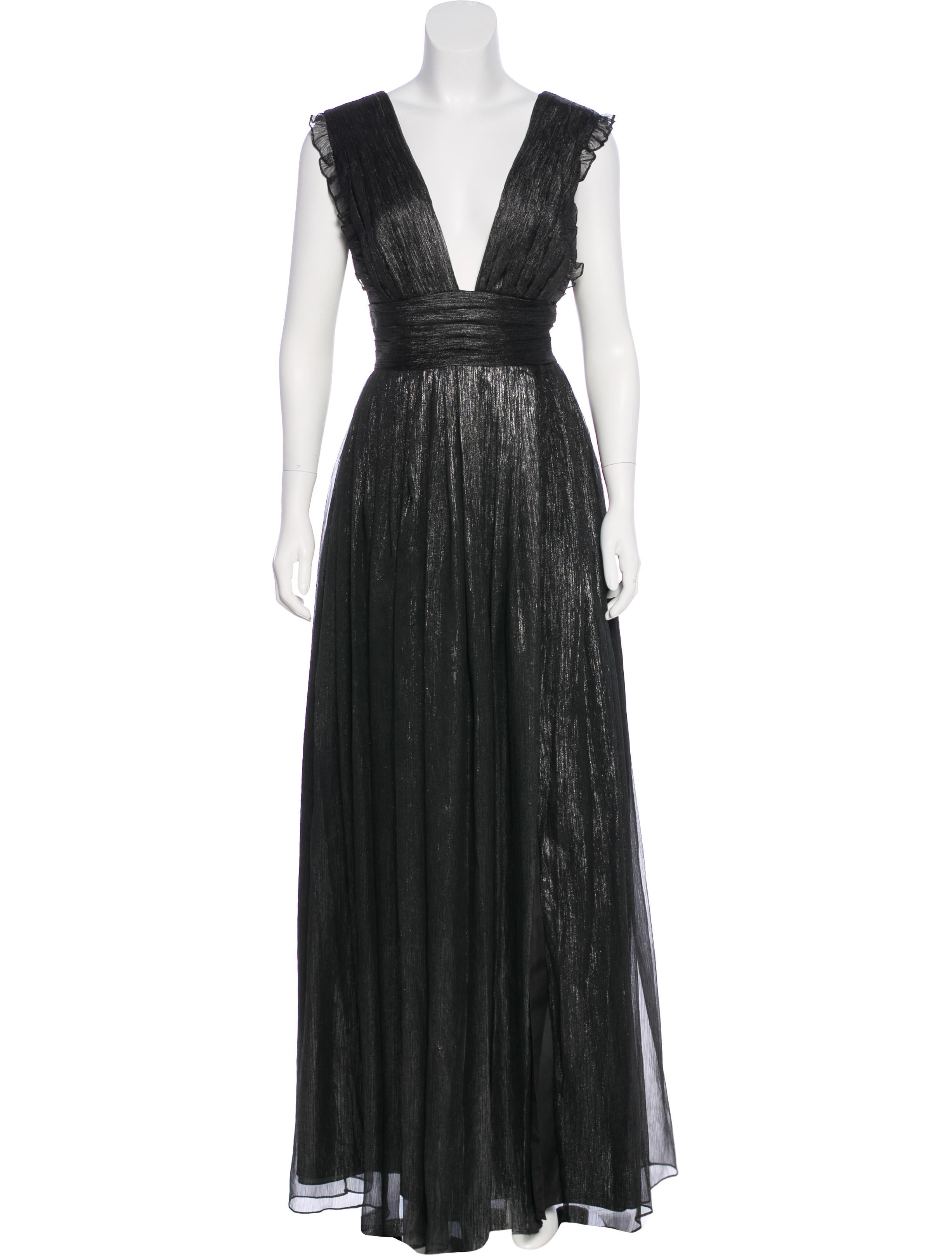 Monique Lhuillier Metallic-Accented Evening Dress w/ Tags - Clothing ...