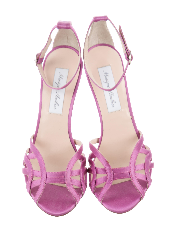 Monique Lhuillier Satin Multistrap Sandals outlet explore cheap professional cheap sale really clearance pick a best clearance new styles nJEMqsz