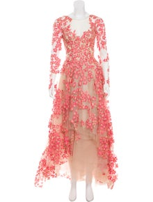 fa0bb0ac694 Monique Lhuillier. Embroidered Evening Gown ...