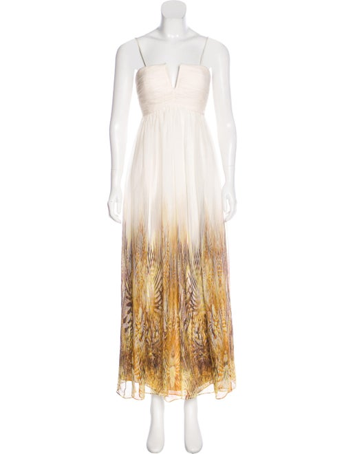 Monique Lhuillier Printed Maxi Dress multicolor