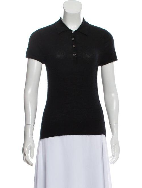 Monique Lhuillier Knit Polo Black