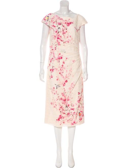 Monique Lhuillier Crocheted Cherry Blossom Dress m