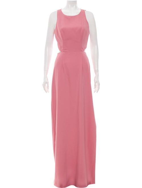 Monique Lhuillier Sleeveless Maxi Dress Pink
