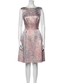 Monique Lhuillier Silk Knee-Length Dress