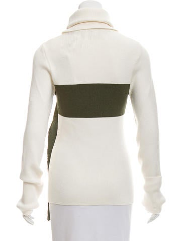 Turtleneck Two-Tone Sweater w/ Tags