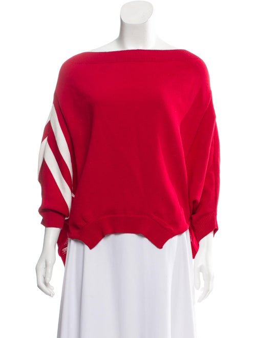 Monse Striped Knit Sweater Red