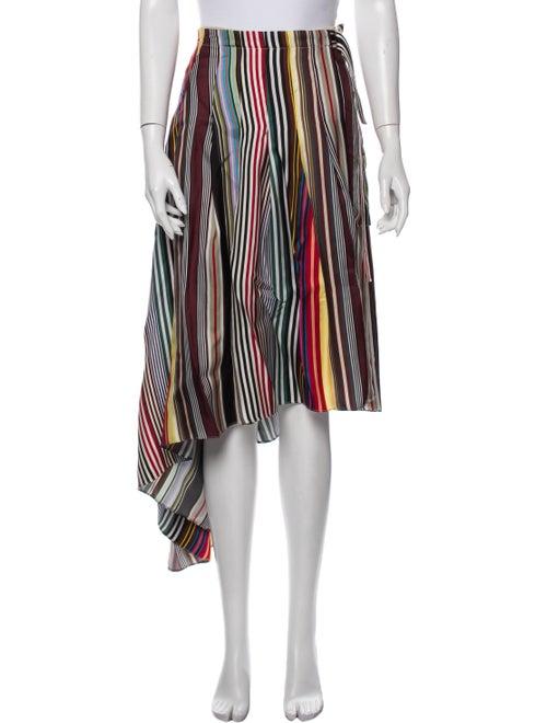 Monse Silk Midi Length Skirt