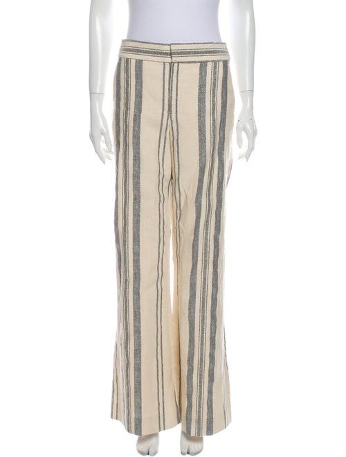 Monse Striped Wide Leg Pants White
