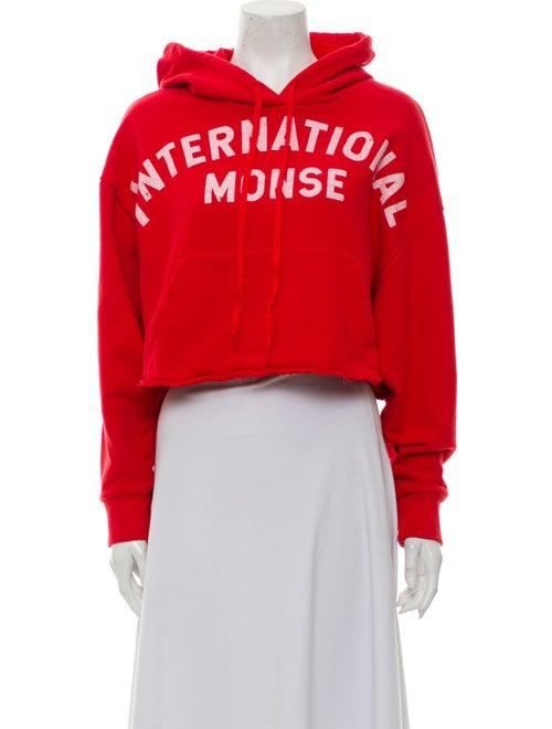 Monse Graphic Print Crew Neck Sweatshirt Red