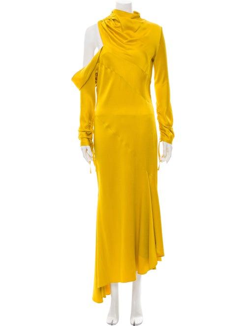 Monse One-Shoulder Long Dress Yellow