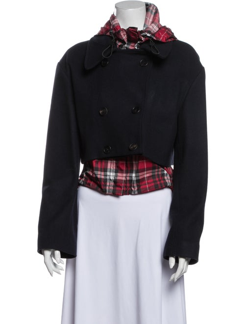 Monse Wool Plaid Print Jacket Wool