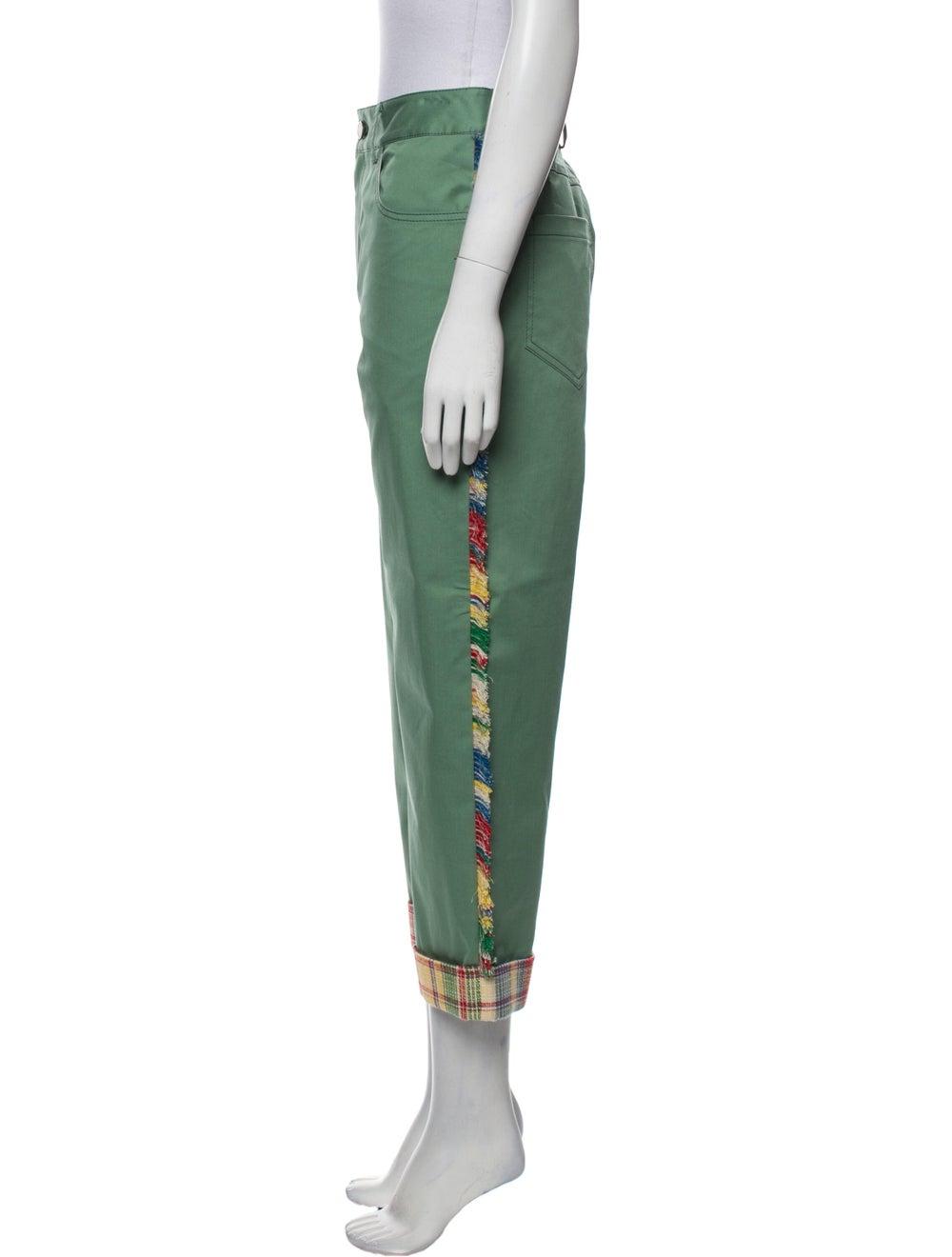 Monse Plaid Print Straight Leg Pants w/ Tags Green - image 2