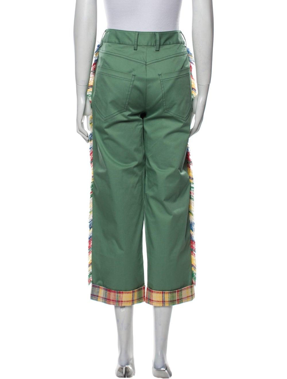 Monse Plaid Print Straight Leg Pants w/ Tags Green - image 3