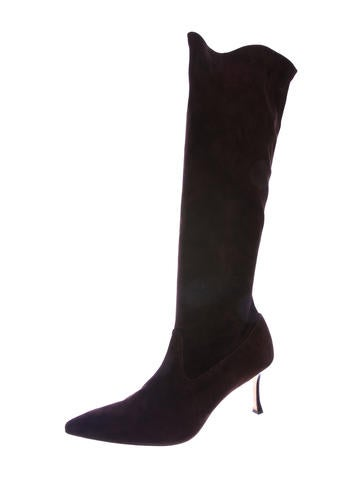 44787e6f870b6 Manolo Blahnik Boots   The RealReal