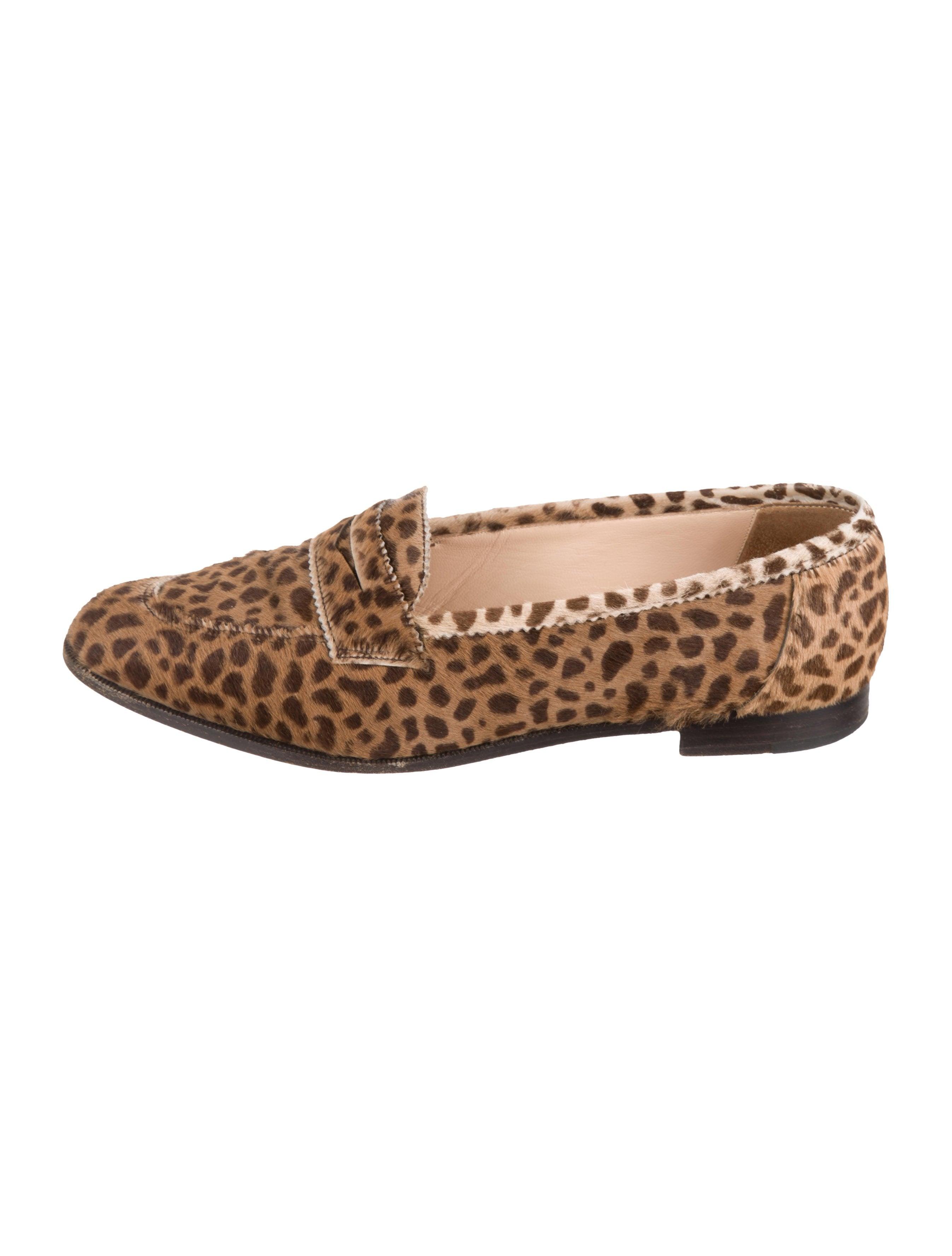 d2cfb6c3ef2d Manolo Blahnik Ponyhair Leopard Print Loafers - Shoes - MOO100815 ...
