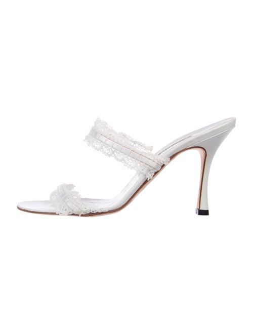 f8b20566fa17 Manolo Blahnik Leather Slide Sandals - Shoes - MOO107443
