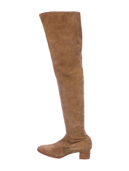 6e2a133e908 Manolo Blahnik Suede Over-The-Knee Boots - Shoes - MOO108023