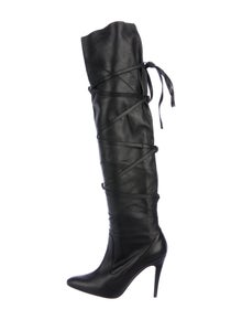 2af0687d76a Manolo Blahnik. Leather Over-The-Knee Boots