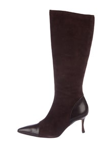 6262265f09d Manolo Blahnik. Suede Knee-High Boots