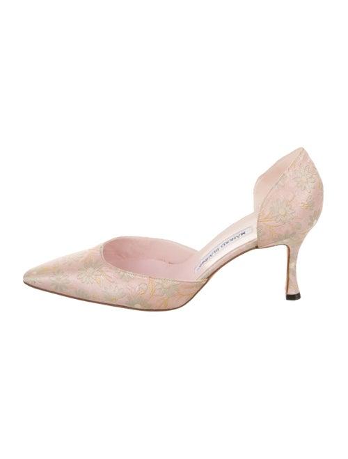 Manolo Blahnik Brocade D'Orsay Pumps Pink