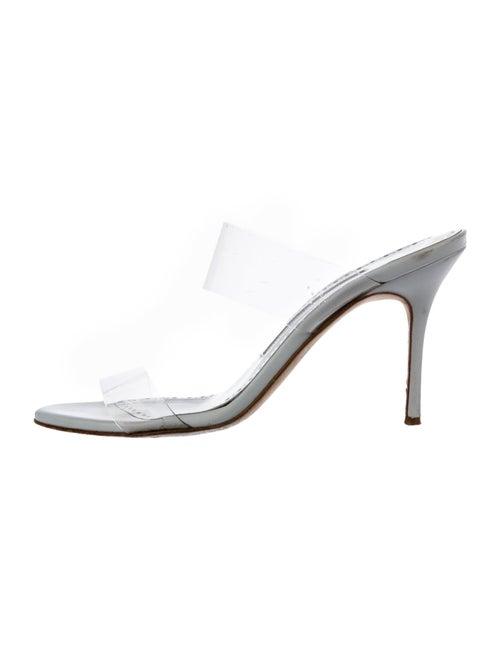 Manolo Blahnik PVC Slide Sandals Clear